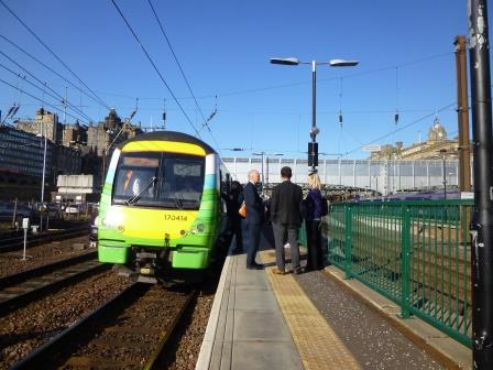 First public train from Waverley on 6th September 2015