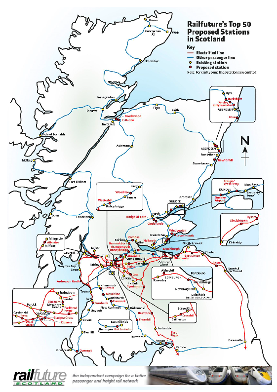 Train Routes In Scotland Map.Railfuture Scotland Campaigns